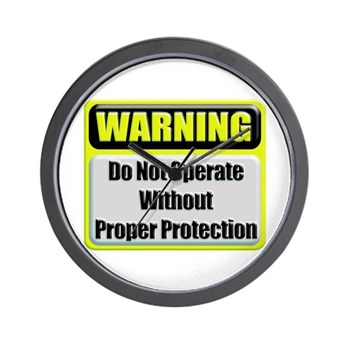 Do Not Operate Warning Wall Clock