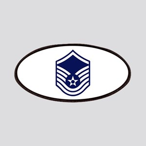 USAF: MSgt E-7 (White) Patch