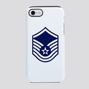 USAF: MSgt E-7 (White) iPhone 8/7 Tough Case