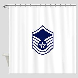 USAF: MSgt E-7 (White) Shower Curtain