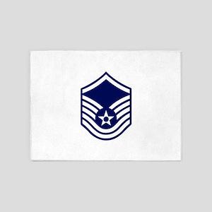 USAF: MSgt E-7 (White) 5'x7'Area Rug
