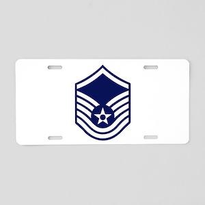 USAF: MSgt E-7 (White) Aluminum License Plate
