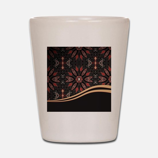 Abstract Floral Shot Glass