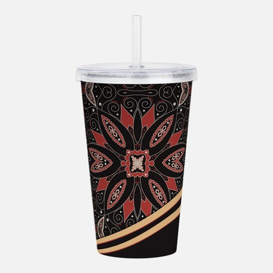 Abstract Floral Acrylic Double-wall Tumbler