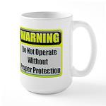Do Not Operate Warning Large Coffee Mug