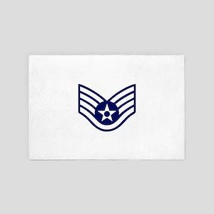 USAF: SSgt E-5 (White) 4' x 6' Rug