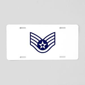 USAF: SSgt E-5 (White) Aluminum License Plate
