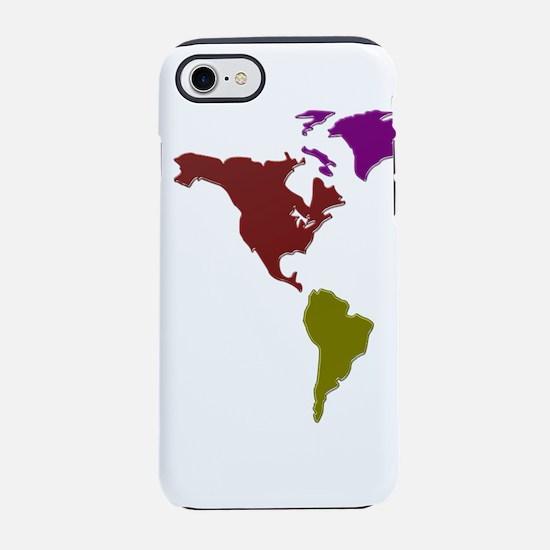 Western Hemisphere Map iPhone 8/7 Tough Case
