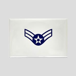 USAF: A1C E-3 (White) Rectangle Magnet