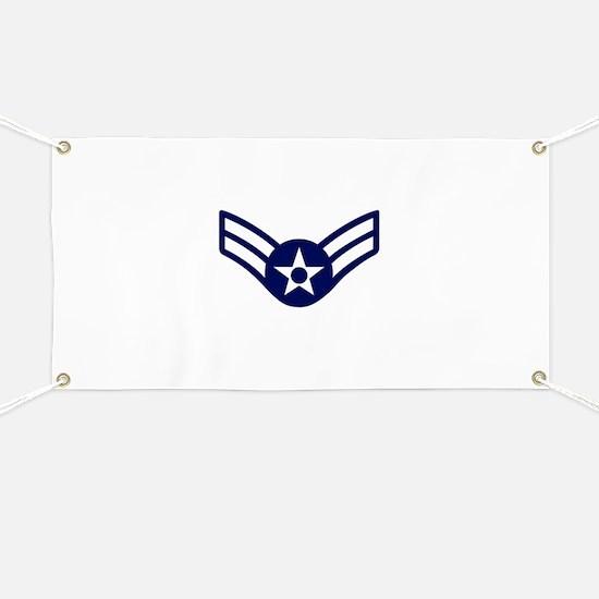 USAF: A1C E-3 (White) Banner
