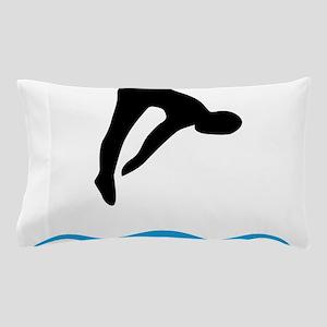 springboard diving Pillow Case