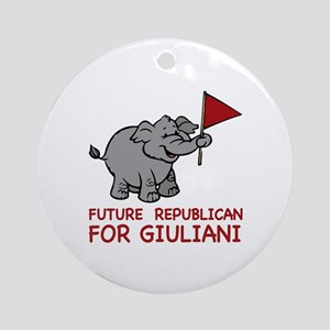 Future Republican for Giuliani Ornament (Round)