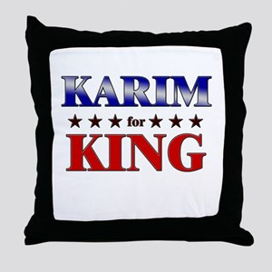 KARIM for king Throw Pillow