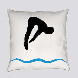 springboard diving Everyday Pillow