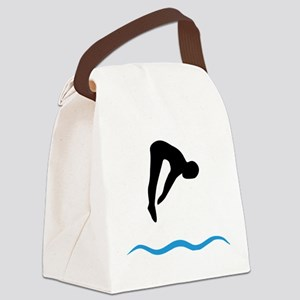 springboard diving Canvas Lunch Bag