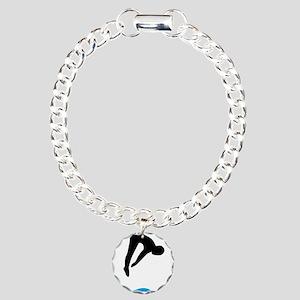 springboard diving Charm Bracelet, One Charm