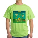Underwater Campfire Green T-Shirt