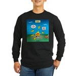 Underwater Campfire Long Sleeve Dark T-Shirt