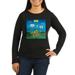 Underwater Campfi Women's Long Sleeve Dark T-Shirt
