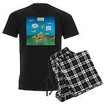 Underwater Campfire Men's Dark Pajamas
