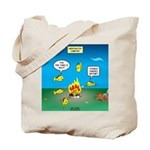 Underwater Campfire Tote Bag