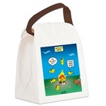 Underwater Campfire Canvas Lunch Bag
