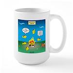 Underwater Campfire Large Mug