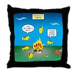 Underwater Campfire Throw Pillow