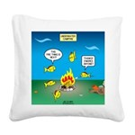 Underwater Campfire Square Canvas Pillow