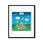 Underwater Campfire Framed Panel Print