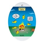 Underwater Campfire Oval Ornament