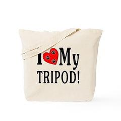 I Heart My Tripod (2-Sided) Tote Bag