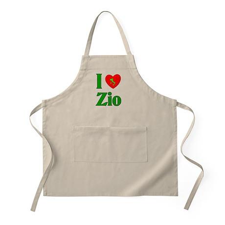 I Love (heart) Zio BBQ Apron