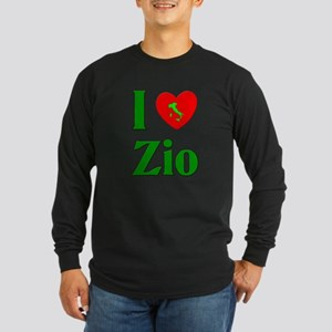 I Love (heart) Zio Long Sleeve Dark T-Shirt