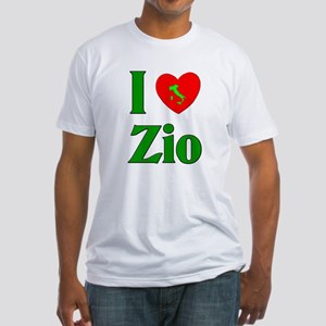 I Love (heart) Zio Fitted T-Shirt