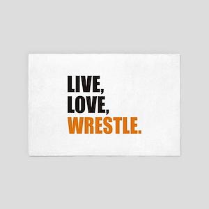 wrestling 4' x 6' Rug