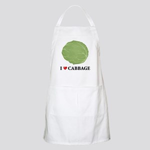I Love Cabbage BBQ Apron