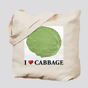 I Love Cabbage Tote Bag