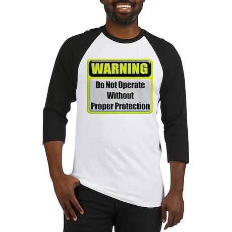 Do Not Operate Warning Baseball Jersey