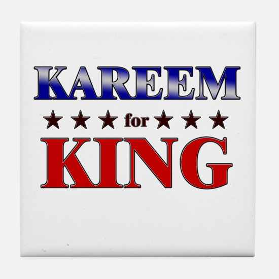 KAREEM for king Tile Coaster