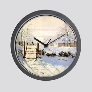 Magpie by Monet Wall Clock