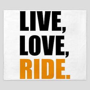 live love ride King Duvet