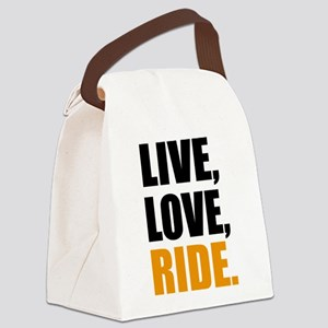 live love ride Canvas Lunch Bag