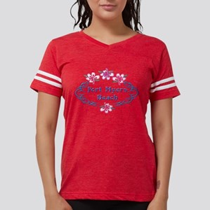 Fort Myers Beach: Flower Oval T-Shirt