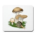 Snail in Mushroom Garden Mousepad
