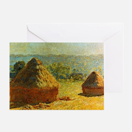 Haystacks by Monet Greeting Card