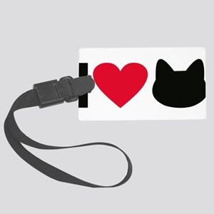 I love cats Large Luggage Tag