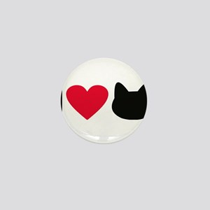 I love cats Mini Button