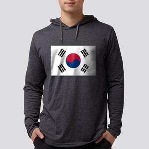 south korea flag Long Sleeve T-Shirt