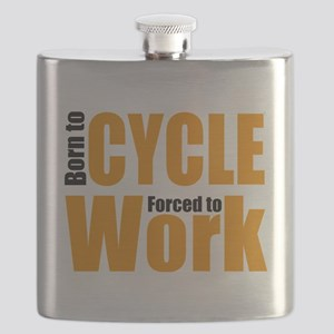 Born to cycle forced to work Flask